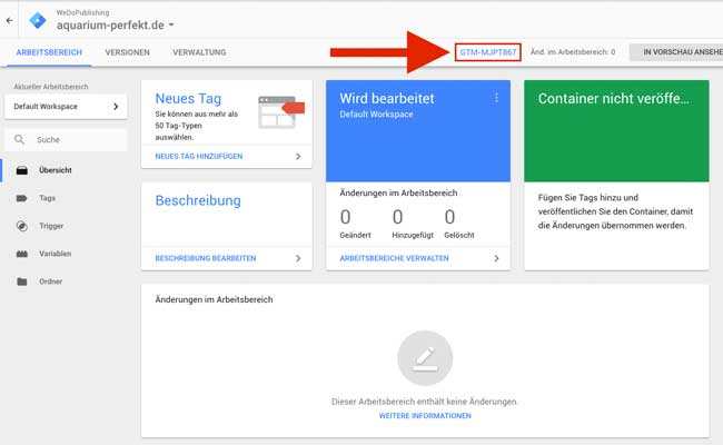 ab tests google tag manager gtmid