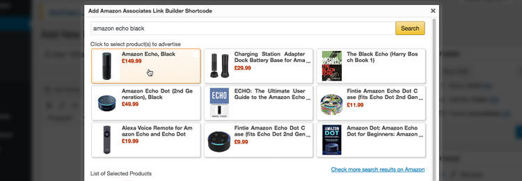 The Amazon Associates Link Builder – the First Official Amazon WordPress Plugin