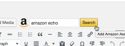 Amazon Associates Link Builder WordPress Editor
