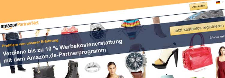 amazon partnerprogramm anmelden