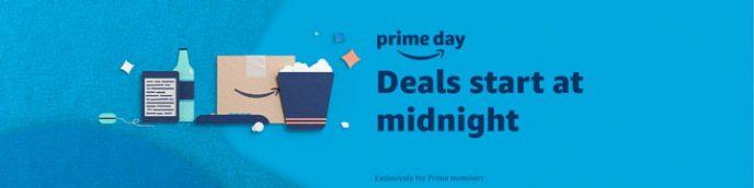 Een banner van amazon.co.uk met een aankondiging voor Prime Day.