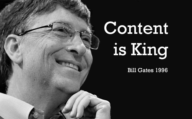 Citazione di Bill Gates su content is king