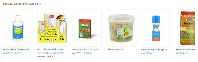 Verschillende bestsellers in product boxes. Hier kun je linken naar de best verkopende producten per categorie.