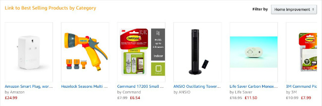 Çeşitli çok satan ürün kutuları. Burada kategorisine göre çok satan ürünlere bağlantı verebilirsiniz.