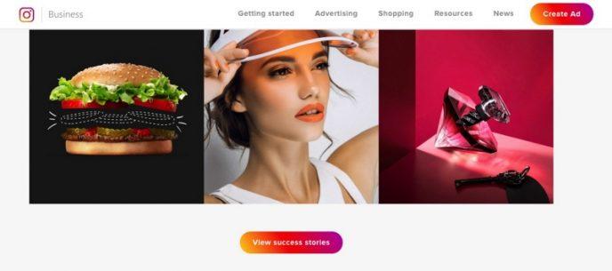 Screenshot der Instagram-Business-Website für Fashion Blogger.