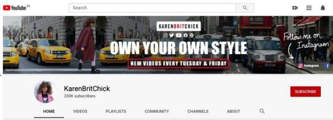 Youtube-Kanal der Modebloggerin Karen Blanchard. New Yorker Street Fashion Filmemacher.