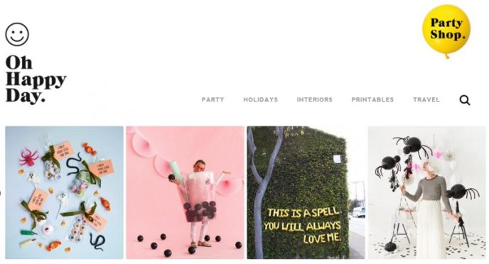 Zu sehen ist ein in der Farbe Gelb gehaltener Fashion Blog Header. Zu sehen ist ein geeignetes Beispiel für einen Modeblog-Namen.