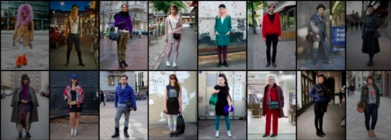 Various people were photographed on the street. This blog is a great example of street fashion blogging.