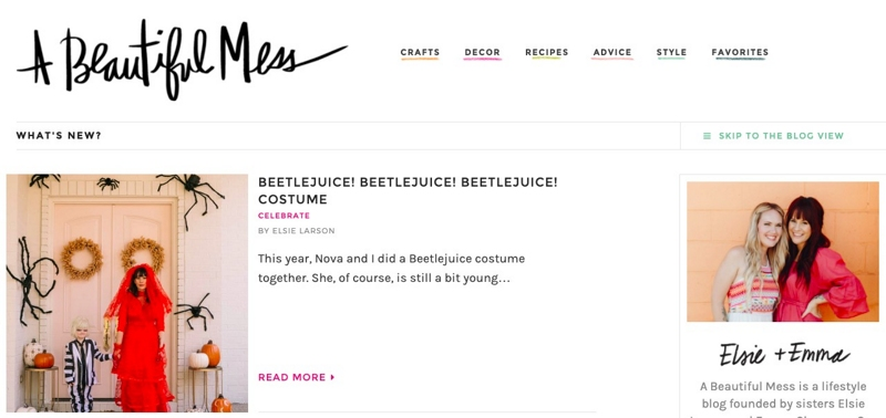 Fashion blog header with black letters in handwriting style. Example of a suitable fashion blog name.