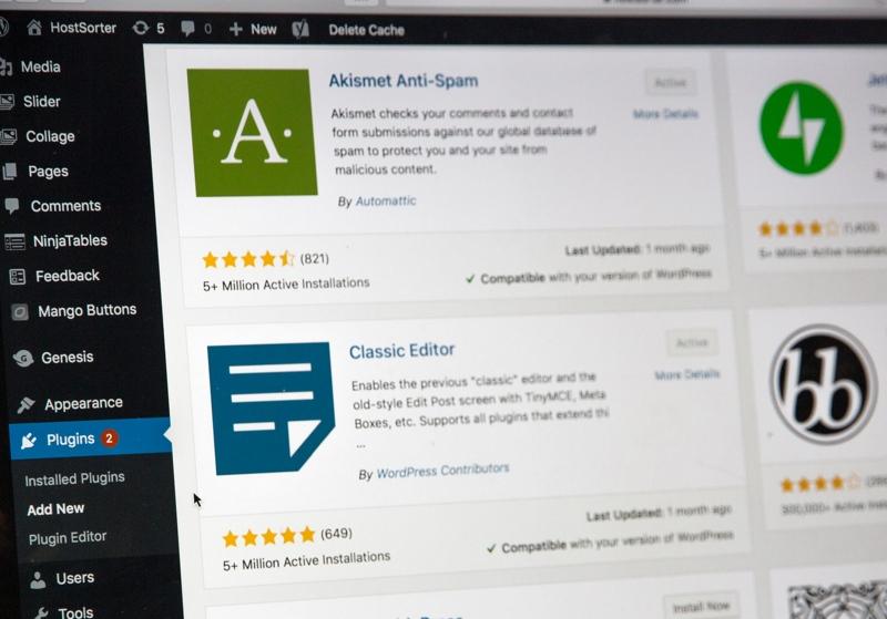 Ein Screenshot des Plug-in-Bereiches im WordPress, hier finden Blogger tausende hilfreiche Plug-ins für die Gestaltung ihres Blogs.