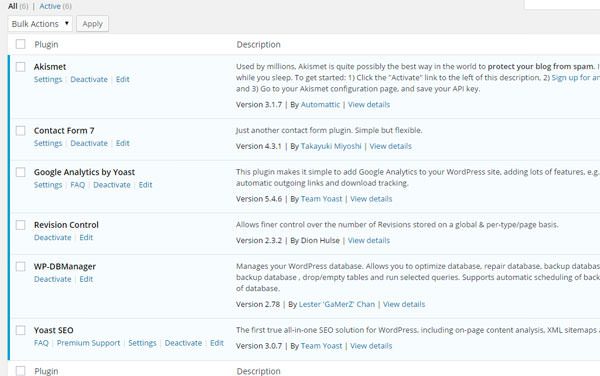 Installing plugins List