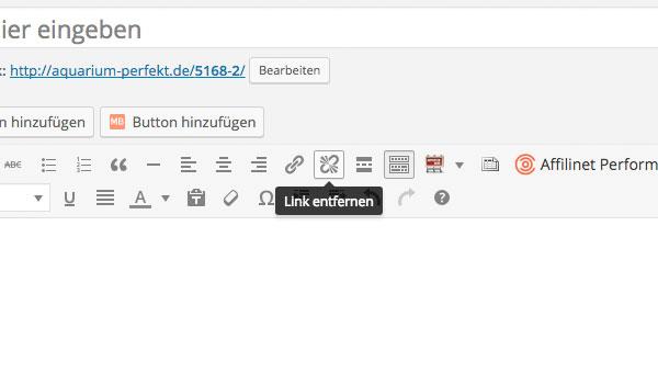 Integration Link entfernen