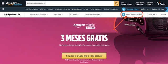 music-unlimited-web-player-es