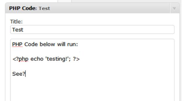 php-code-widget