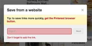 Pinterest add affiliate link desktop