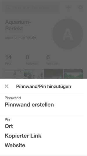 Pinterest affiliate links hinzufügen app