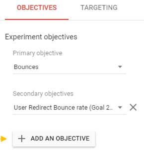 Create a Redirect experiment in Google Optimize