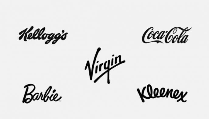Beispiele von Logos mit einer Schreibschrift