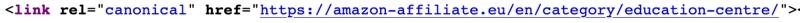 Dieser Screenshot zeigt, wie ein canonical tag auf einer Seite aussieht, die nicht indexiert werden soll. Du kannst eine andere Seite deiner Domain auswählen, die stattdessen angezeigt werden soll.)