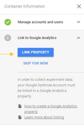Étapes pour l'installation de Google Optimize
