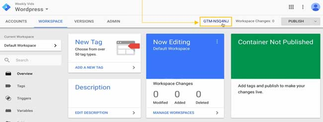 Pasos para integrar Google Tag Manager con WordPress