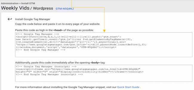 Steps to integrate Google Tag Manager with WordPress