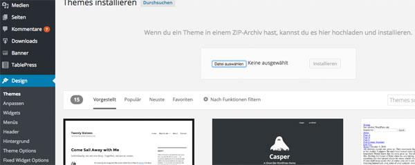 Themes wordpress installieren manuell