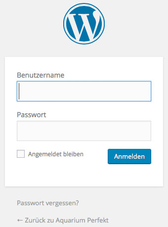 Was ist wordpress login