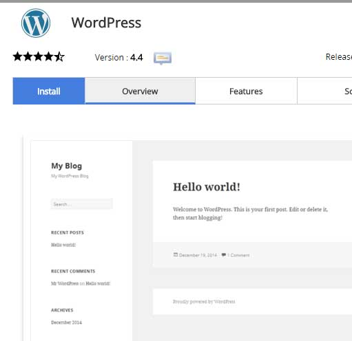 What is wordpress install
