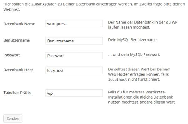 Wordpress installieren 1
