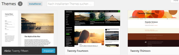 Wordpress Theme installieren