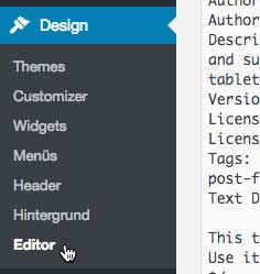 Wordpress Design Editor